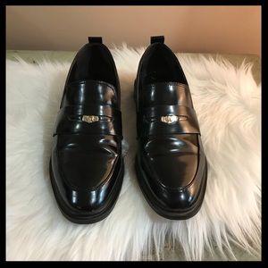 Zara Patent Penny Loafers